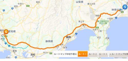 新東名高速道路路線図